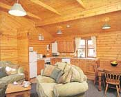 Our lodges feature warm and comforatable interiors